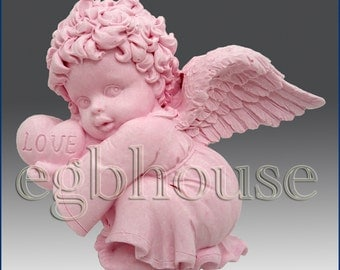 2D Silicone Soap Mold - Valentine Angel Boy - free shipping