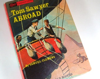 Vintage Children's Book, Tom Sawyer Abroad, Samuel Clemons, Companion Library, Mid Century, Gerald McCann, Child's Story, 1965 (590-12)