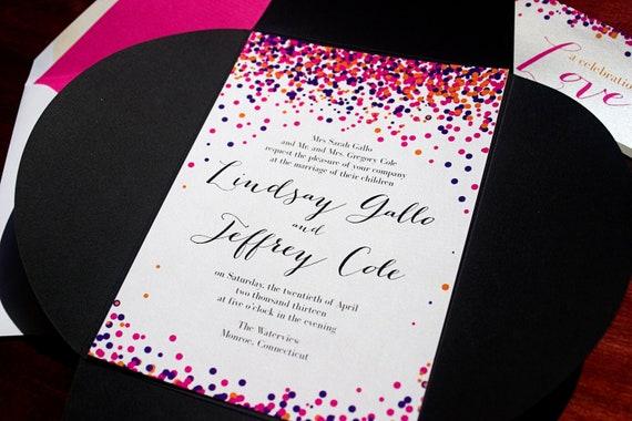 """Confetti Wedding Invitation - """"Rio"""""""