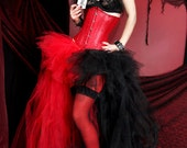 Harley Quinn Red Black Split Trashy Formal Bustle TuTu Adult All Sizes MTCoffinz