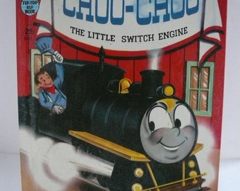 Choo-Choo The Little Switch Engine by Wallace Wadsworth  Vintage Tip Top Elf Book  A Rand McNally Book