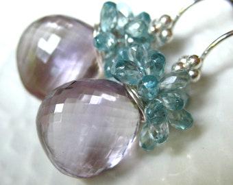 Pink Amethyst Briolette Earrings