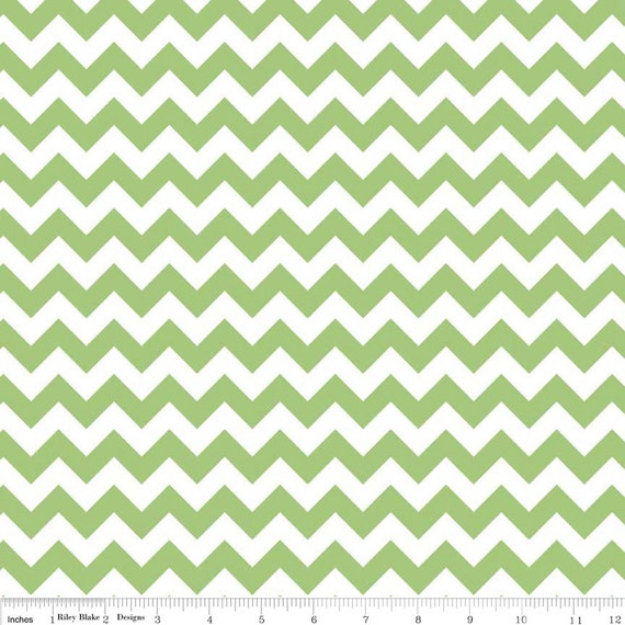 Chevron Small Green zig zag stripe by The RBD Designers for Riley Blake Fabric 1 yard