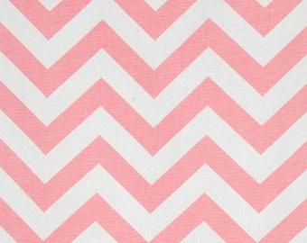 ZigZag Chevron Baby Pink White   Home Dec Cotton   Premier Prints