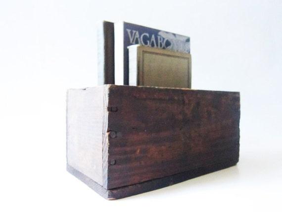 Vintage Wood Box - Rustic Wooden Storage