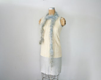 vintage 70s Does 20s Silver Metallic Thread Flapper Silverworm Dress and Feather Boa Halloween Costume