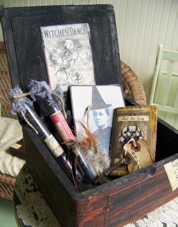 Handmade Halloween Vintage Halloween Witch Kit Halloween Decoration Vintage Assemblage