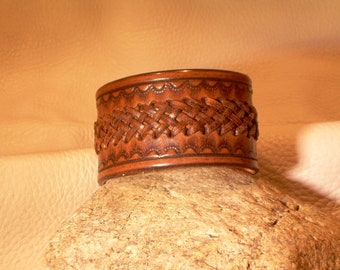 Hand Braided Genuine Leather Wristband Cuff