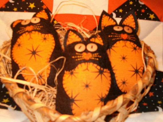 Prim Halloween Kitten Bowlfillers, Ornies
