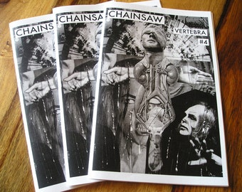 Art Zine Issue 4 Chainsaw Vertebra Outsider Punk Surreal Book