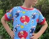 Dolman t-shirt unisex sewing pattern (18m/2t, 3t/4t, 5y/6y, 7y/8y) - PDF