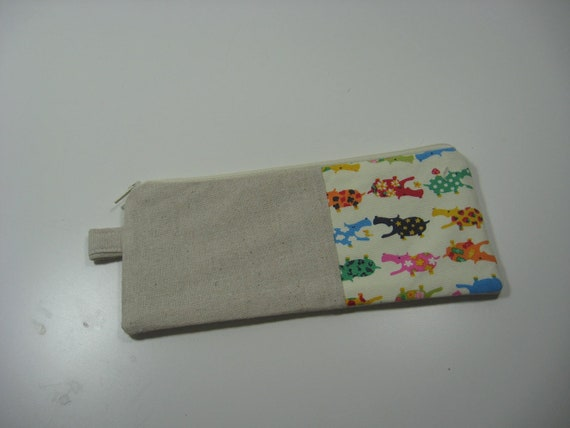Pencil Case Pouch, Cosmetics Pouch, Zippy Pouch - Happy Hippos