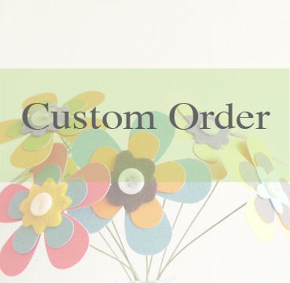 RESERVED FOR CHRISTINA - Pinwheel Flowers - 24