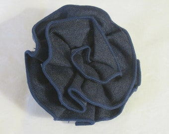 Handmade Denim Flower Pin