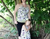Mother, Daughter Handmade Matching Outfits,Mothers Day, Pillowcase Top and Dress