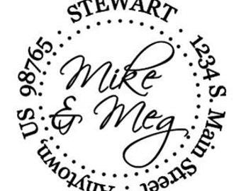 Self Inking Address Stamp - Style: Stewart