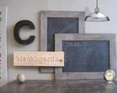 chalkboard with driftwood gray frame . . . handmade blackboard