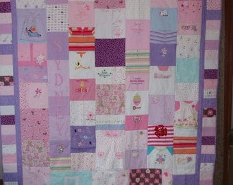 CUSTOM ORDERS for Quilts made from your precious baby clothes ~  FULL size