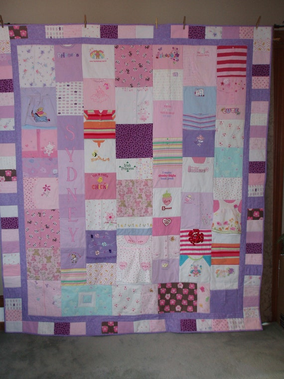 CUSTOM ORDERS for Quilts made from your precious baby clothes