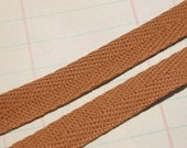 """Cotton Twill Tape Trim CARAMEL BROWN - 1/2"""" - Sewing Craft Embellishment - 25 Yards - Entire Spool"""