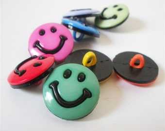 Smaller Smile Buttons by Buttons Galore