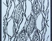 Pods stencil 9x12 inches