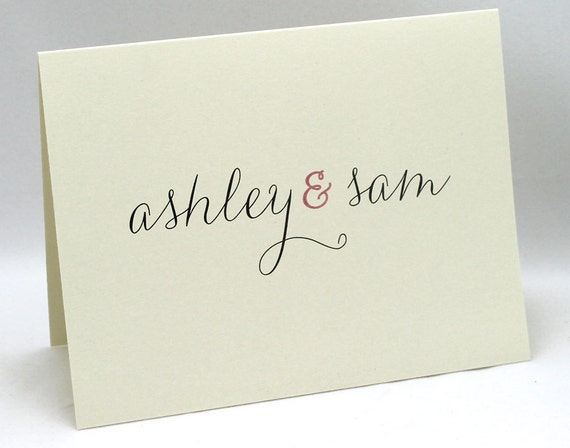 Personalized Customized Stationery Great for Couples Set of 15