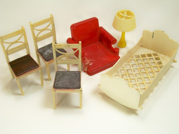 Vintage Ideal Dollhouse Plastic Furniture Usa By Dalesdreams