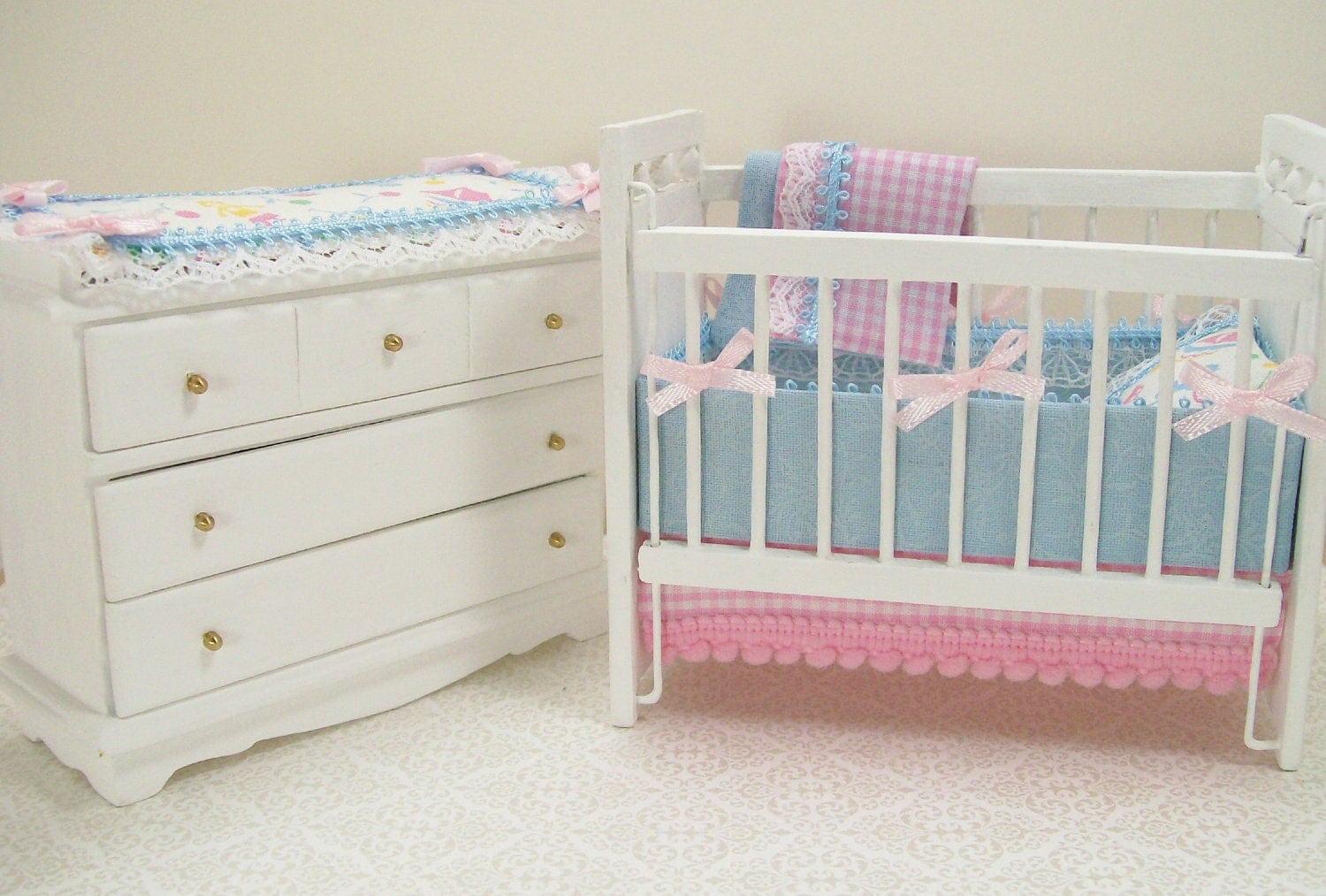 Unavailable listing on etsy Baby crib with changing table