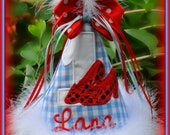 NEW DESIGN,  Ruby Slippers,  Wizard of Oz,  First  Birthday Hat, (Any Number) You Choose Colors, by Gingham Bunny Embroidery