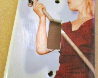 VACUUM  domestic goddess inspired light switch plate