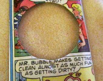 vintage comics MR. BUBBLE metal dimmer switch cover