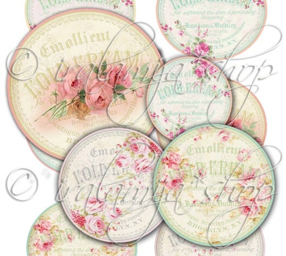 VICTORIAN TAGS collage Digital Images  -printable download file-
