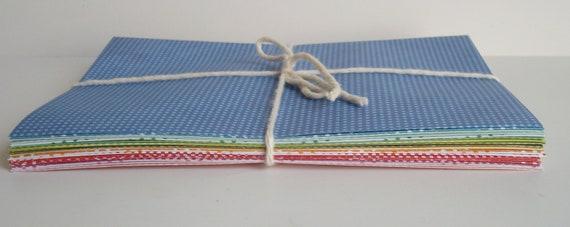 20 Assorted polka dot envelopes - size A7 envelope - 5 1/2 x 7 1/2 - invitation envelope - large envelope - mailing envelope