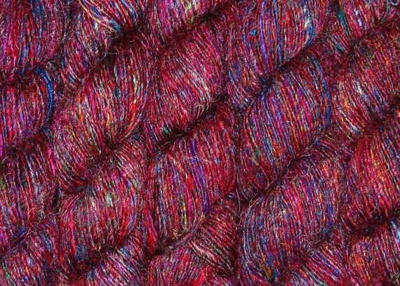 1100 yards Sari Silk Yarn, Recycled Handspun SUPER PREMIUM, Fair Trade, 24 oz, 695 oz