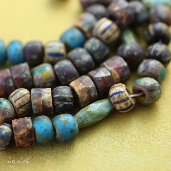 RUSTIC MIX No. 1 .. Picasso Czech Glass Seed Beads (2501)