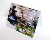 SALE - Waterfall Cave in New Mexico- BLANK 4x6 Photo NoteCard