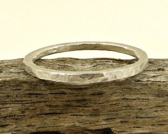 Ring Band Fine Silver - 14G, Simple Silver Ring Band, Eco Friendly Jewelry, Gifts for Her