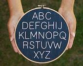 Minimalist Embroidered Nursery Alphabet- PDF Instant Download