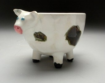 Udderly Fantastic Ceramic Cow Bowl-Cup