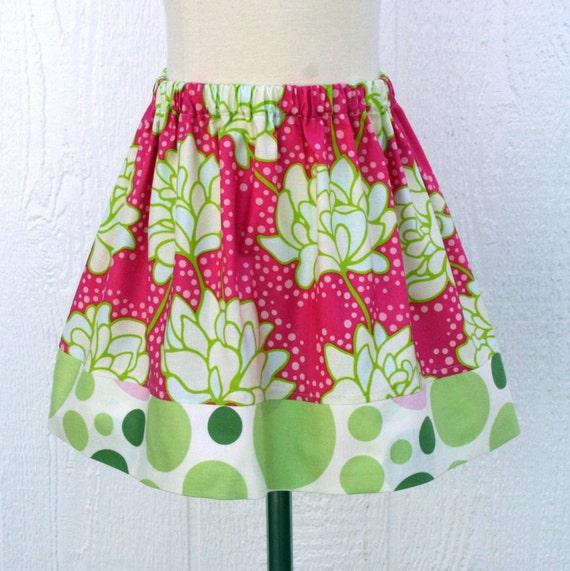SKIRT SALE -  Pink Peony Skirt - Last One Size 1/2 - Kissing Kumquats