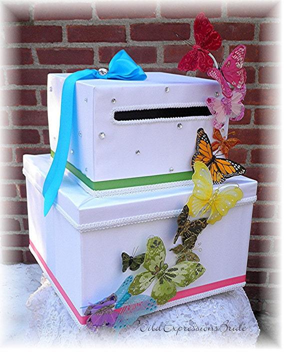 Butterfly Wedding Gift Card Box : Wedding Card Money Box BUTTERFLY KISSES by WeddingsofDesign