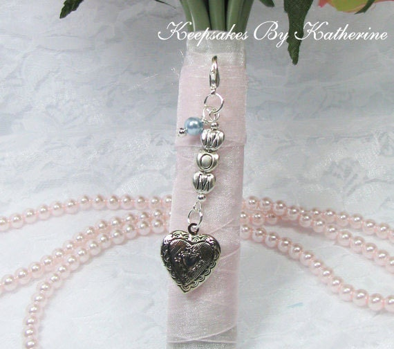 Mom Bouquet Locket Charm, Bridal Bouquet Charm