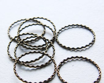 20pcs Antique Brass Tone Base Metal Rings- 27mm (10812Y-J-61)