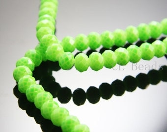 30pcs Donut Neon Crystal - Green Neon 6x8mm (601)