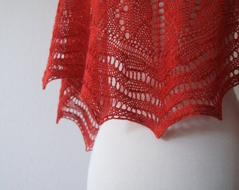 Knitting Pattern PDF / Wave Maiden Shawl