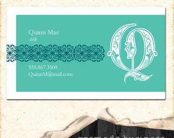 Customizable business card, personal card, or mommy card