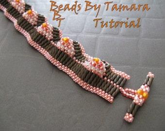 Bugle Eye Bracelet - Bead Tutorial Pattern PDF