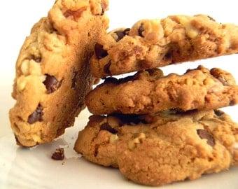 Semi-Sweet Chocolate & Walnut Cookies - ONE DOZEN (12 cookies)