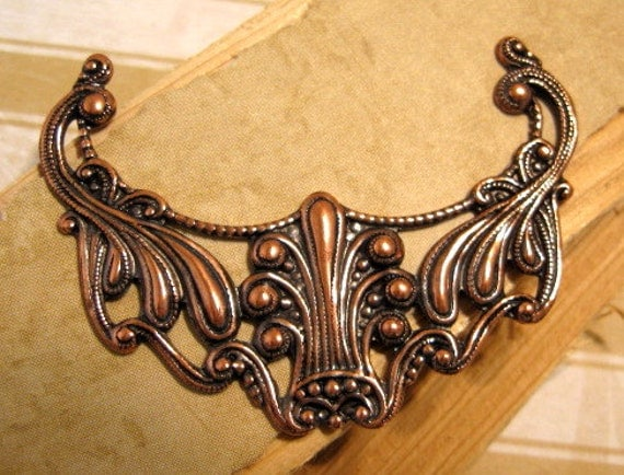 Art Nouveau Pendant from Trinity Brass in Antique Copper